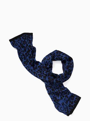 Kate Spade Leopard-print muffler