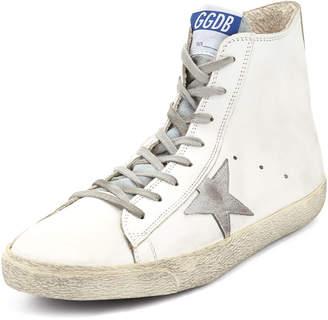 Golden Goose Men's High-Top Shearling-Lined Sneakers
