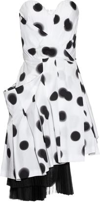 MARC BY MARC JACOBS Blurred-dots print strapless dress $928 thestylecure.com