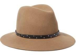 Rag & Bone Studded Leather-Trimmed Wool-Felt Fedora