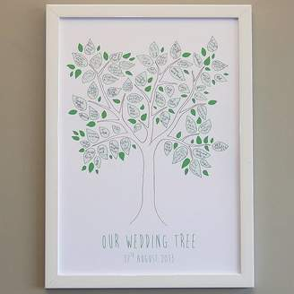 Love Those Prints Personalised Tree Signature Poster