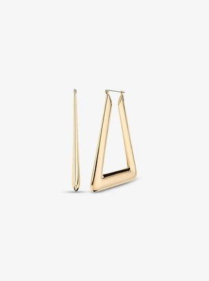 Michael Kors Triangle Hoop Earrings
