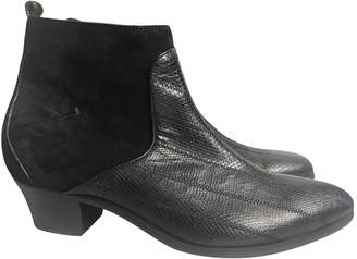 CNC Costume National Black Leather Boots