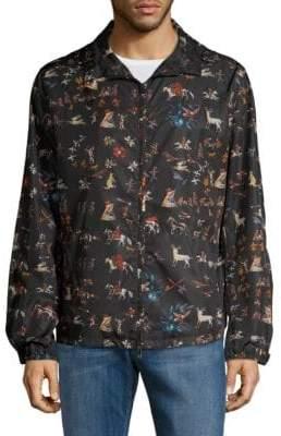 Valentino Graphic Hooded Jacket
