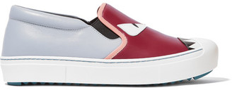 Fendi - Bag Bug Leather Slip-on Sneakers - Light blue $650 thestylecure.com