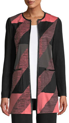 Misook Colorblock Knit Topper Jacket, Plus Size