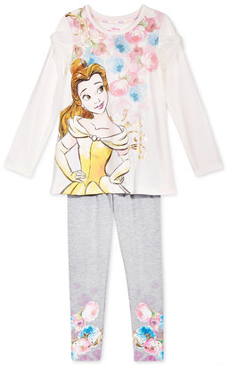 Disney's® Beauty and The Beast 2-Pc. Top & Leggings Set, Toddler & Little Girls (2T-6X) $36 thestylecure.com