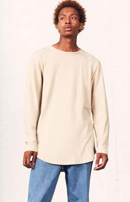 PacSun Darhan Long Sleeve Scallop T-Shirt