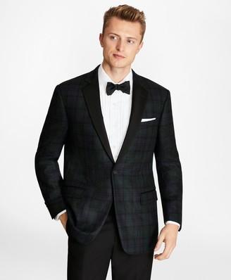 Brooks Brothers Regent Fit Black Watch Wool Tuxedo Jacket