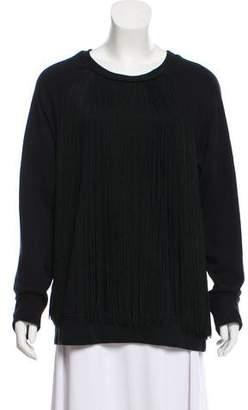 DKNY Fringe-Trimmed Oversize Sweater