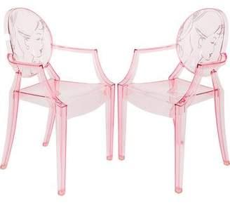 Kartell Pair of Barbie Lou Lou Ghost Armchairs