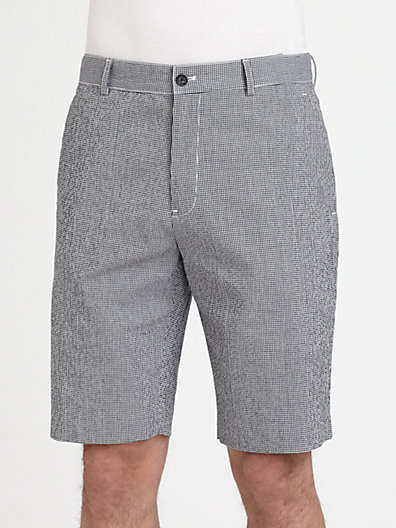Michael Kors Mini-Gingham Shorts