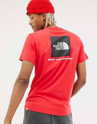 The North Face Red Box T-Shirt in Red