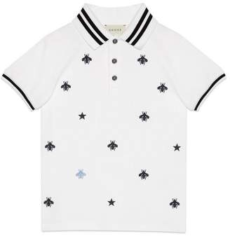 Gucci Children's polo with bees and stars