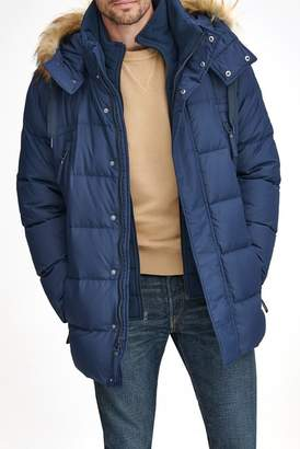 Andrew Marc Conway Removable Faux Fur Hood Quilted Parka