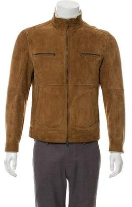 Brunello Cucinelli Faux Shearling-Lined Suede Jacket