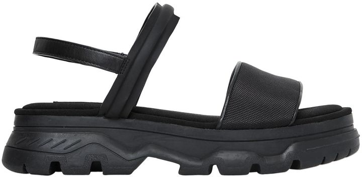 DKNY 40mm Addie Rubberized Leather Wedge