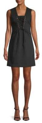 Calvin Klein Lace-Up Front Sleeveless Dress