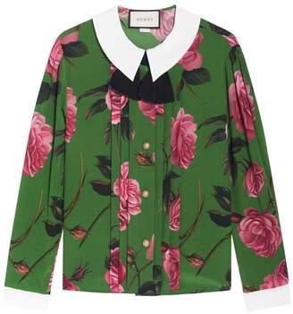 Gucci Floral Printed Silk Shirt