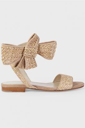 DELPOZO Woven Bow Flat Sandals