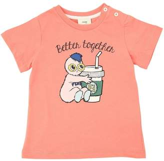 Fendi Better Together Cotton Jersey T-Shirt