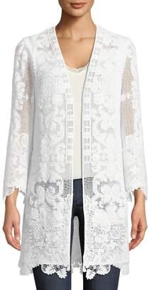 Neiman Marcus Kobi Halperin Mina Open Long Cotton-Cording Coat