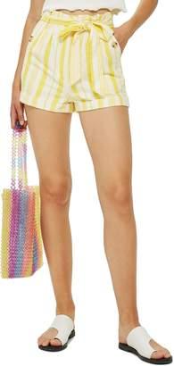 Topshop Stripe Paperbag Shorts