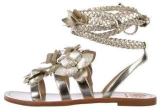 ce6746fba Tory Burch Gold Strap Women s Sandals - ShopStyle