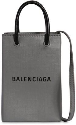 Balenciaga Shopping Leather Phone Holder