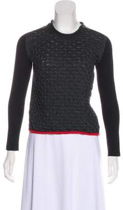 Alexander Wang Patterned Long Sleeve Sweater