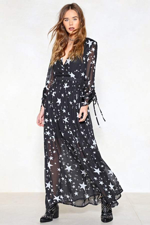 nastygal Whats Your Star Sign Maxi Dress