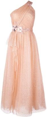 Marchesa one shoulder dress