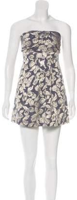 Tibi Printed Sleeveless Knee-Length Dress
