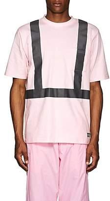 "U.p.w.w. Men's ""Crisis"" Cotton T-Shirt - Pink Size S"