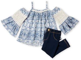Jessica Simpson Infant Girls) Two-Piece Cold Shoulder Top & Jeans Set