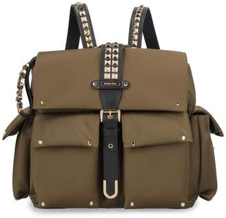 Michael Kors Olivia Nylon Backpack With Leather Details