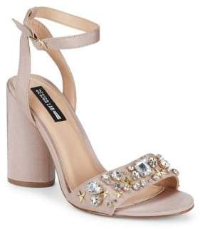 Design Lab Chet Embellished Ankle-Strap Dress Sandals
