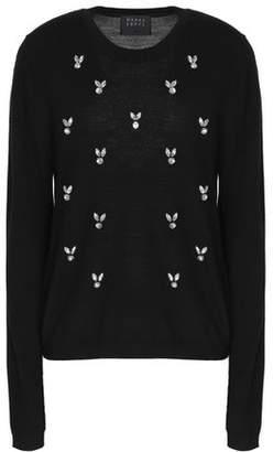 Markus Lupfer Crystal-Embellished Merino Wool Sweater