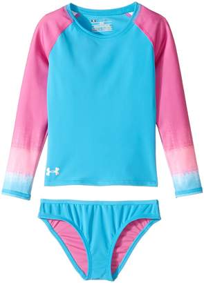 Under Armour Kids Ombre Long Sleeve Rashguard Set Girl's Swimwear Sets