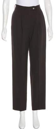 Calvin Klein Collection Wool-Blend High-Rise Pants