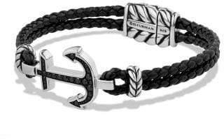David Yurman Pave Anchor Bracelet With Black Diamonds