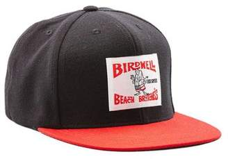 Todd Snyder Birdwell Beach Britches for Exclusive Birdwell 6-panel Hat In Black with Red Brim