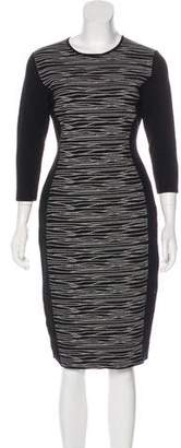 HUGO BOSS Boss by Long Sleeve Bodycon Dress