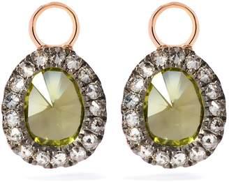 Annoushka Rose Gold Dusty Diamonds Peridot Mini Earring Drops