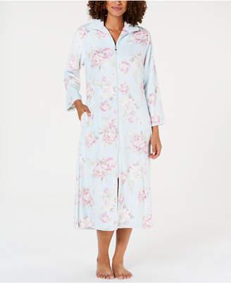 Miss Elaine Printed Brushed Fleece Zip Robe