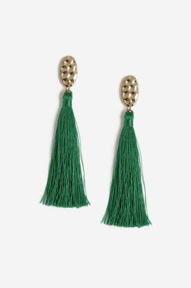 Topshop Womens **Hammered Topper Tassel Earrings