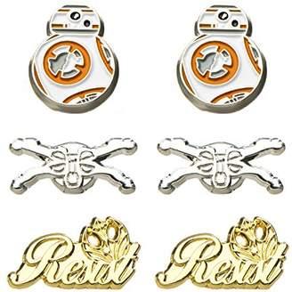Star Wars Jewelry Unisex Adult Episode 8 Base Metal Resistance Steel Post Stud Earrings Set