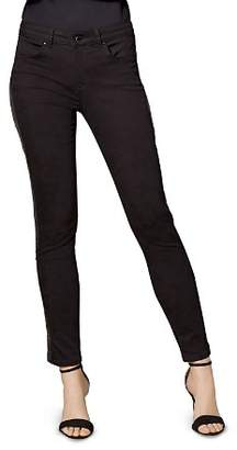 Karen Millen Sequin-Stripe Skinny Jeans in Black