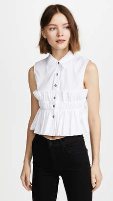 Jourden Smocked Crop Shirt