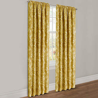 Parrish Maytex Mills Floral Lined 2-Pack Rod-Pocket Curtain Panels